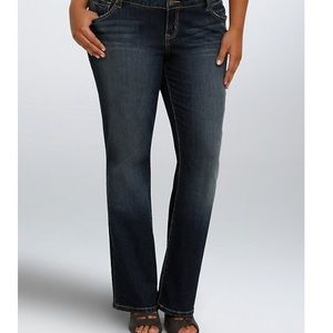 Torrid 12 relaxed boot jeans with grommeted pocket